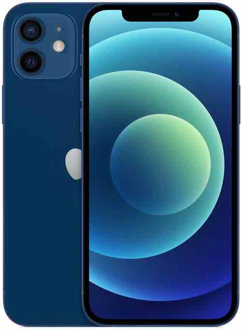 New Apple iPhone 12 (256GB, Blue) [Locked] + Carrier Subscription